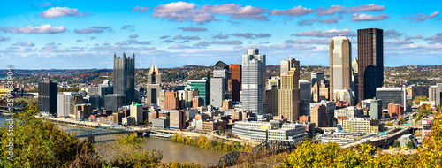 Panorama of Downtown Pittsburgh, known as the Golden Triangle Fototapeta