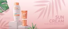 Sunscreen Cream Banner Ads On ...