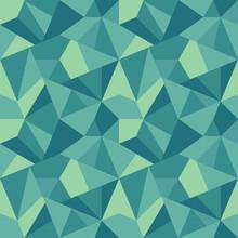 Polygonal Repeat Pattern. Green Tint.
