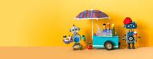 Ice Cream Mobile Cart. Summer ...