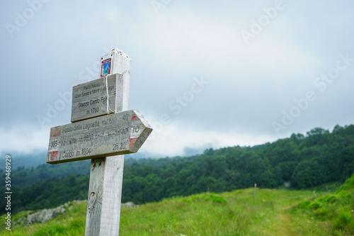 Obraz na płótnie Detail from the Valley of Hundred Waterfalls trek, Abruzzo, Gran Sasso e Monti d
