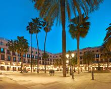 Barcelona At Night In Golden L...
