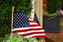 American Flags On Display