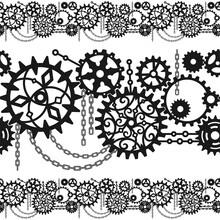 Black Gears, Cogwheels And Cha...