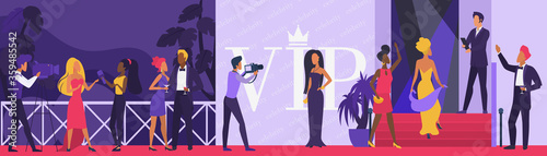 Celebrity vip party vector illustration Poster Mural XXL