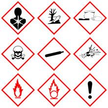 GHS Label Safety Vector Sign S...