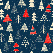 Christmas Seamless Pattern For...