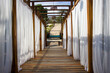 canvas print picture - long corridor on the beach