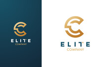 Premium Vector C Logo In Two Colour Variations. Beautiful Logotype For Luxury Branding. Elegant And Stylish Design For Your Elite Company.