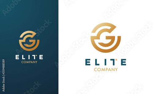 Premium Vector G Logo in two colour variations Canvas Print