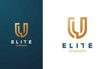 Premium Vector U Logo In Two C...