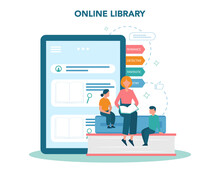 Online Library Concept. Using ...
