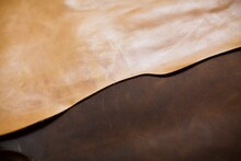 Camel And Brown Color Real Lea...
