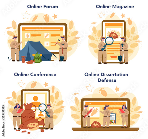 Photo Archaeologist online service or platform set