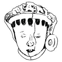 Sculpture Head Of An Indian Ch...