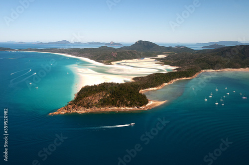 Fototapeta Australien, Whitehaven Beach, Whitsunday Island, Hill Inlet obraz