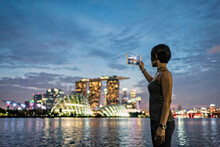 Asia, Singapore, Young Woman T...