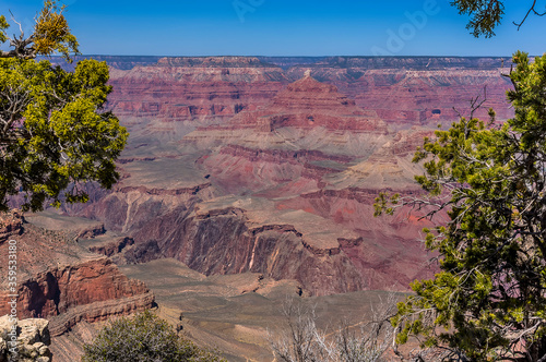 Close up view of  buttes from Yavapai Point on the South Rim of the Grand Canyon Fototapet