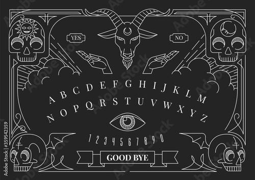 Fototapeta Ouija Board Illustration