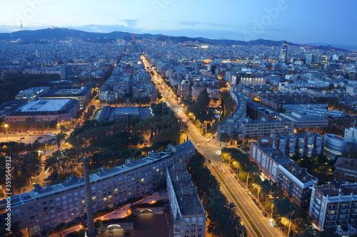 Barcelona panoramic view with La Sagrada Família