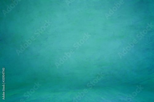 Green aquamarine textured background; embossed photographic studio backdrop Tablou Canvas