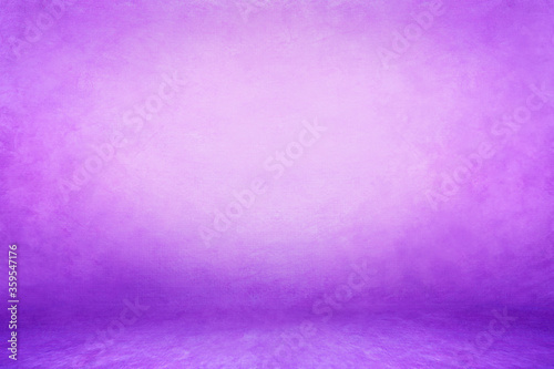 Fototapeta Purple aquamarine textured background; embossed photographic studio backdrop. Muslin canvas illuminated wall and floor MOCKUP obraz