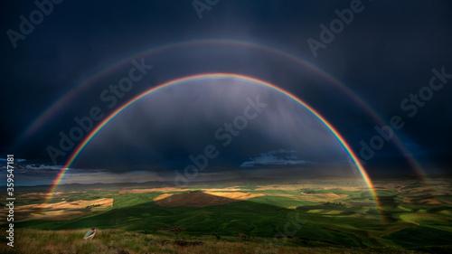 Rainbow Over the Palouse #359547181