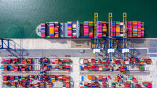 Aerial View Container Cargo Sh...