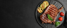 Slate Plate With Grilled Meat ...