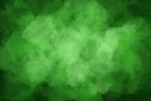 緑の水彩背景素材