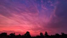 Beautiful Pink Clouds With Blu...