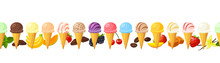 Collection Of Colorful Ice Cre...