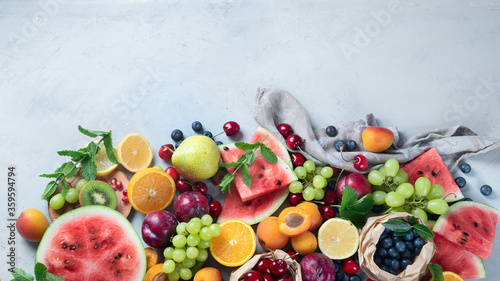 Foto Fresh healthy fruits