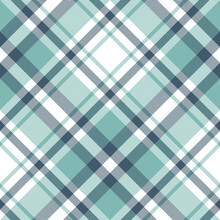 Plaid Pattern Vector In Turquo...