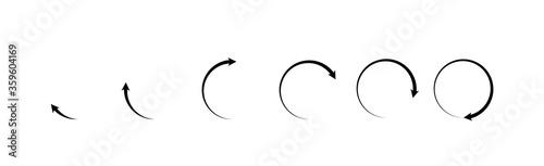 Fotomural Rotating arrows icon. Vector