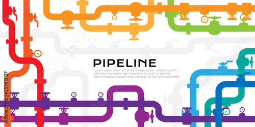 Foto Pipelines colorful textured background with copy space