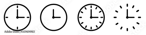 Fototapeta Vector Time and Clock icons set