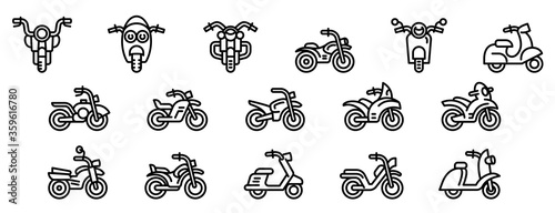 Motorbike icons set Slika na platnu