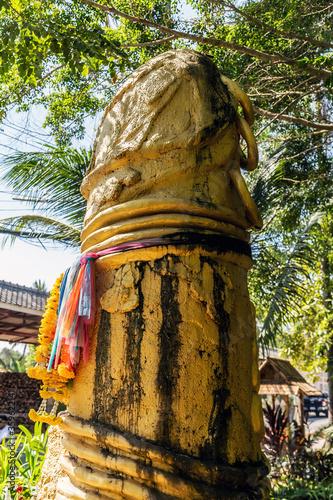 Fotografija Phallic symbols penis decorated sculpture
