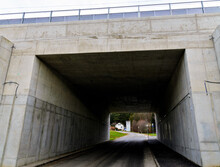 Concrete Underpass Below A Rai...