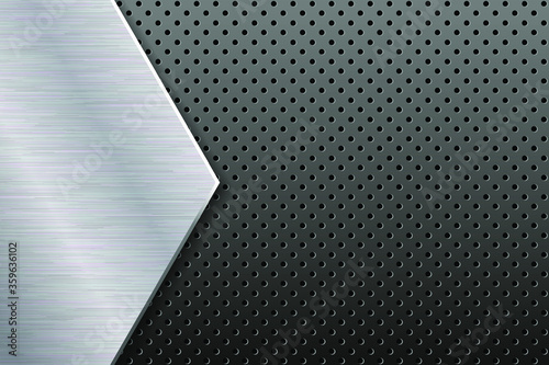 Fototapeta Black technology background with different textures