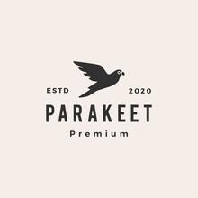 Parakeet Hipster Vintage Logo ...