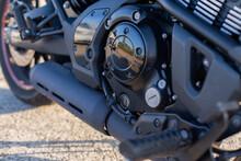 Detalle De Motor De Motociclet...