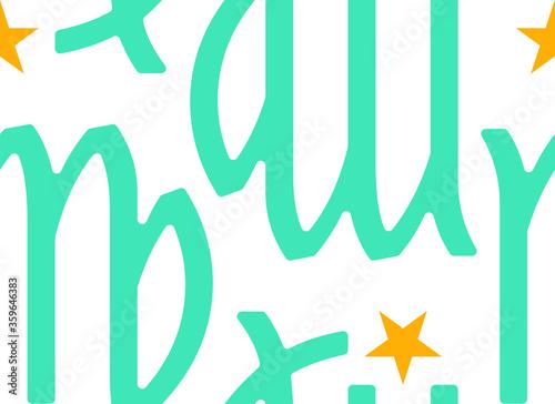 zodiaco, segno della vergine, pattern vettoriale Canvas Print