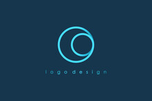 Abstract Initial Letter O Logo...