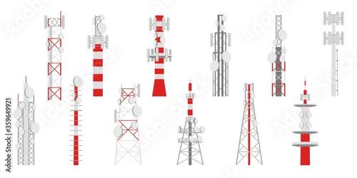 Radio masts Canvas-taulu