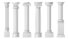 Realistic Column. Classic Anti...
