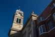 Derby, Derbyshire, UK: October 2018: Clocktower of Derby Guildhall and Theatre