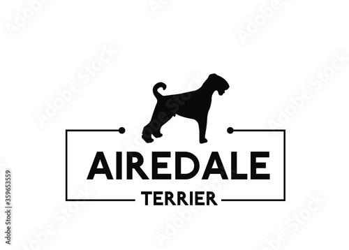 Carta da parati Airedale terrier - vector dog