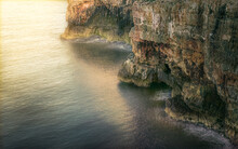 Overhanging Cliff Seashore